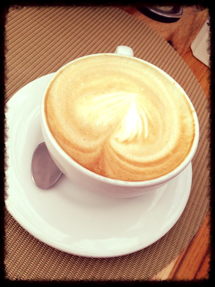Mi capuccino con olor a café