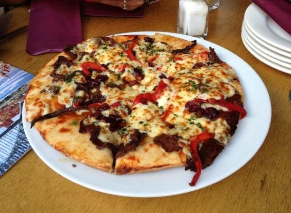 Pizza de canguro en Sidney. Australia.